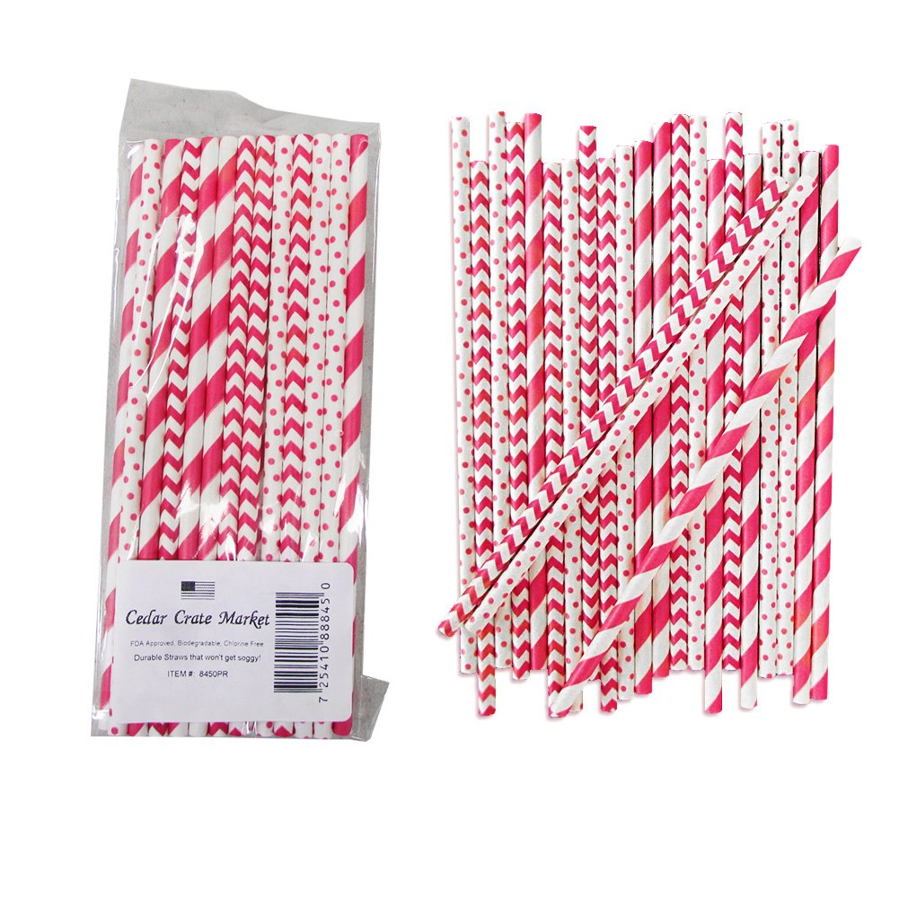 Sparkle Spa Party Supplies Pack Bundle for 16 Guests: Straws, Dessert Plates, Beverage Napkins, Cups, and Table Cover by Cedar Crate Market (Image #6)
