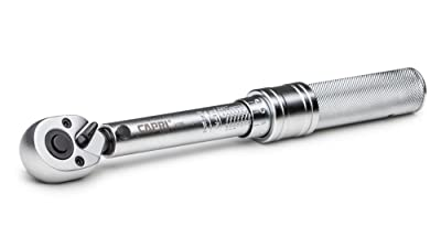 Capri Tools 31200 20-150 Inch Pound Industrial Torque Wrench, 1/4 Drive, Matte Chrome