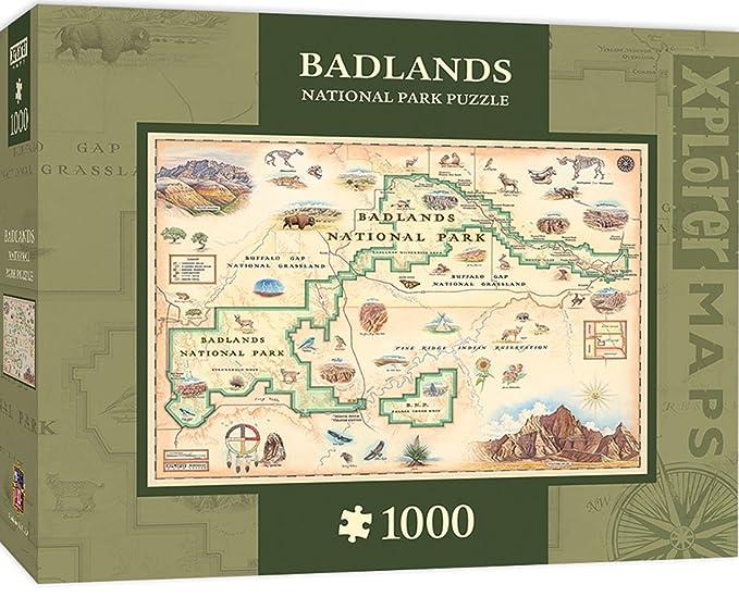 Amazon.com: MasterPieces Xplorer Badlands Map 1000 Piece Jigsaw ...