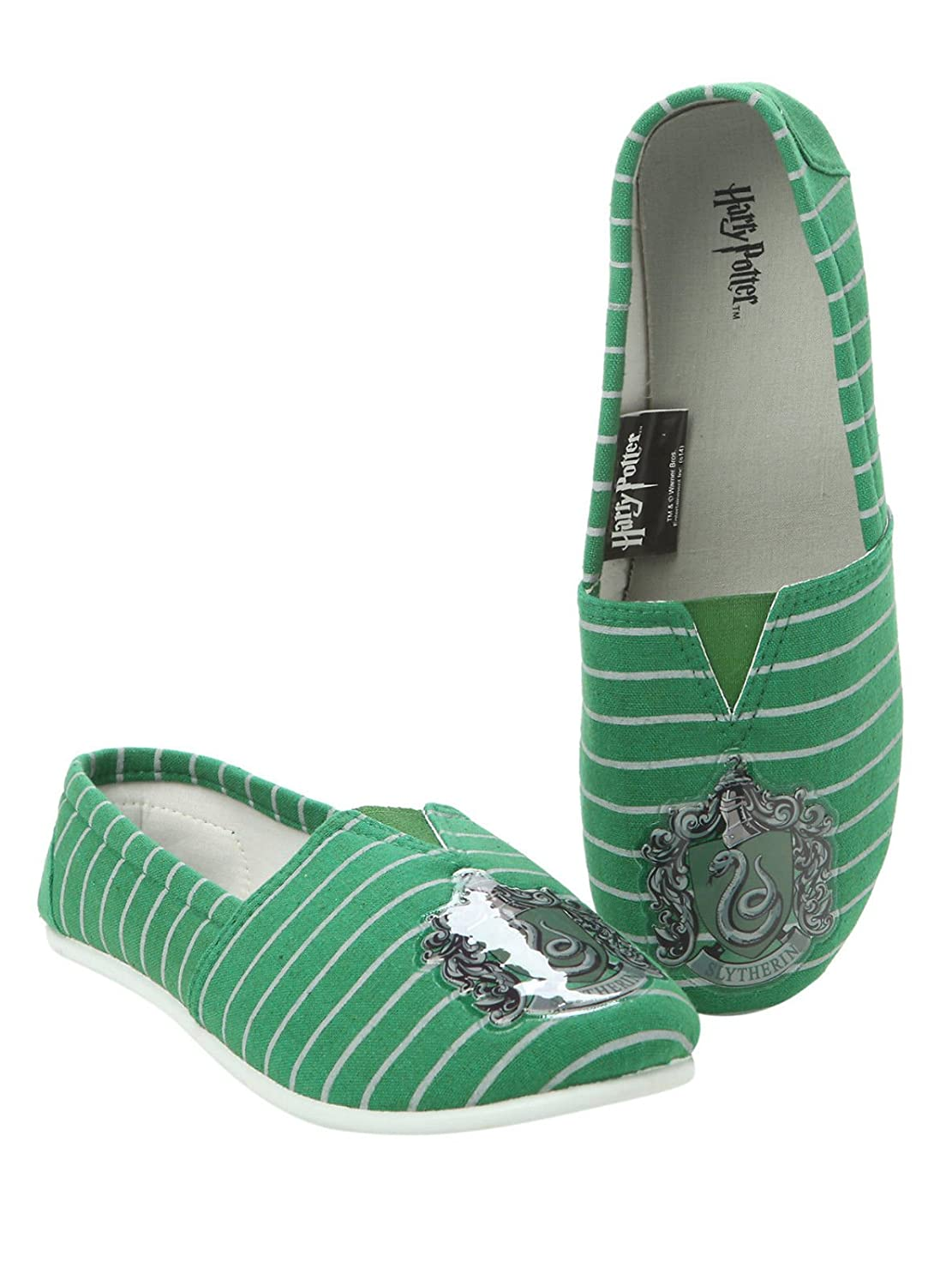 Harry Potter SLYTHERIN Logo All Over Print Slip On Canvas Shoes