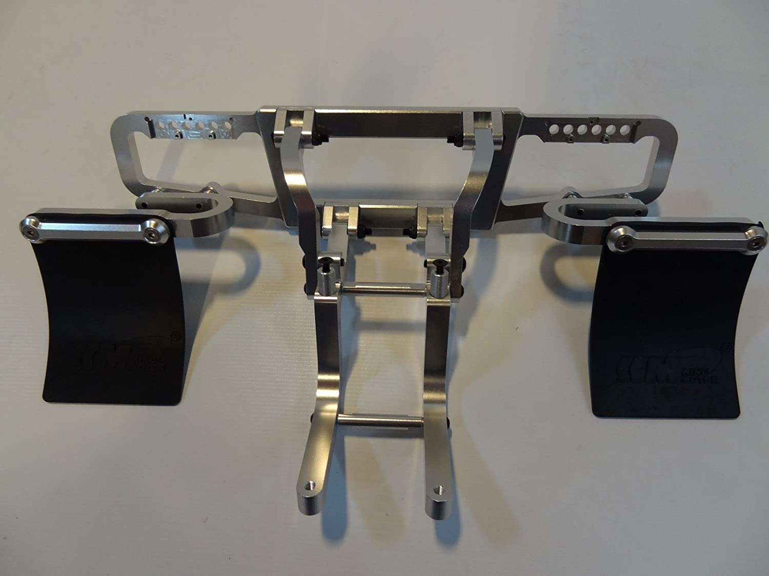 Short Course Truck CNC Aluminium Front AND Rear Bumpers (silver) for HPI Baja 5T 5SC