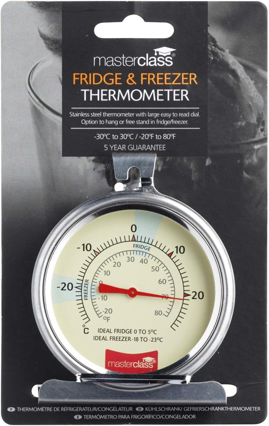 Master Class MCFRIDGESS - Termómetro para frigorífico, en acero ...