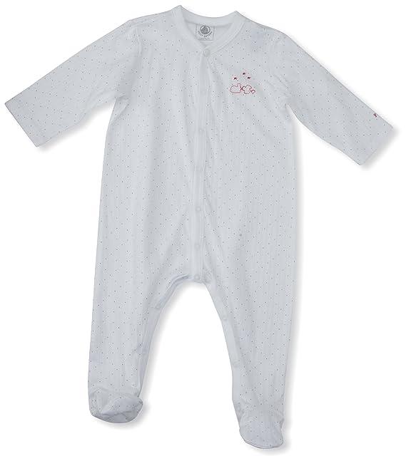 Petit Bateau - Pijama de una pieza con cuello barco para niño, talla Taille Fabricant