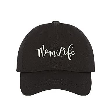 Prfcto Lifestyle Mom Life Dad Hat- Black Baseball Cap- Unisex at ... 694ab2092bf