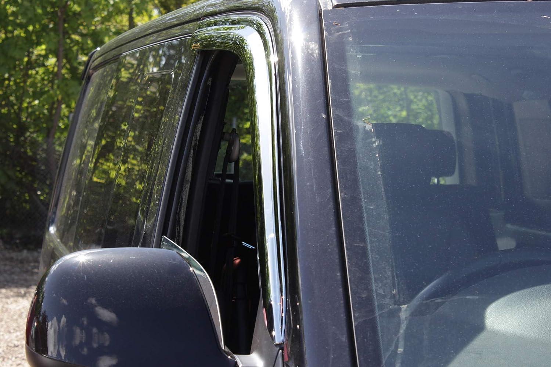 Autoclover Windabweiser f/ür VW Transporter T5//T6 2-teiliges Set Chrom