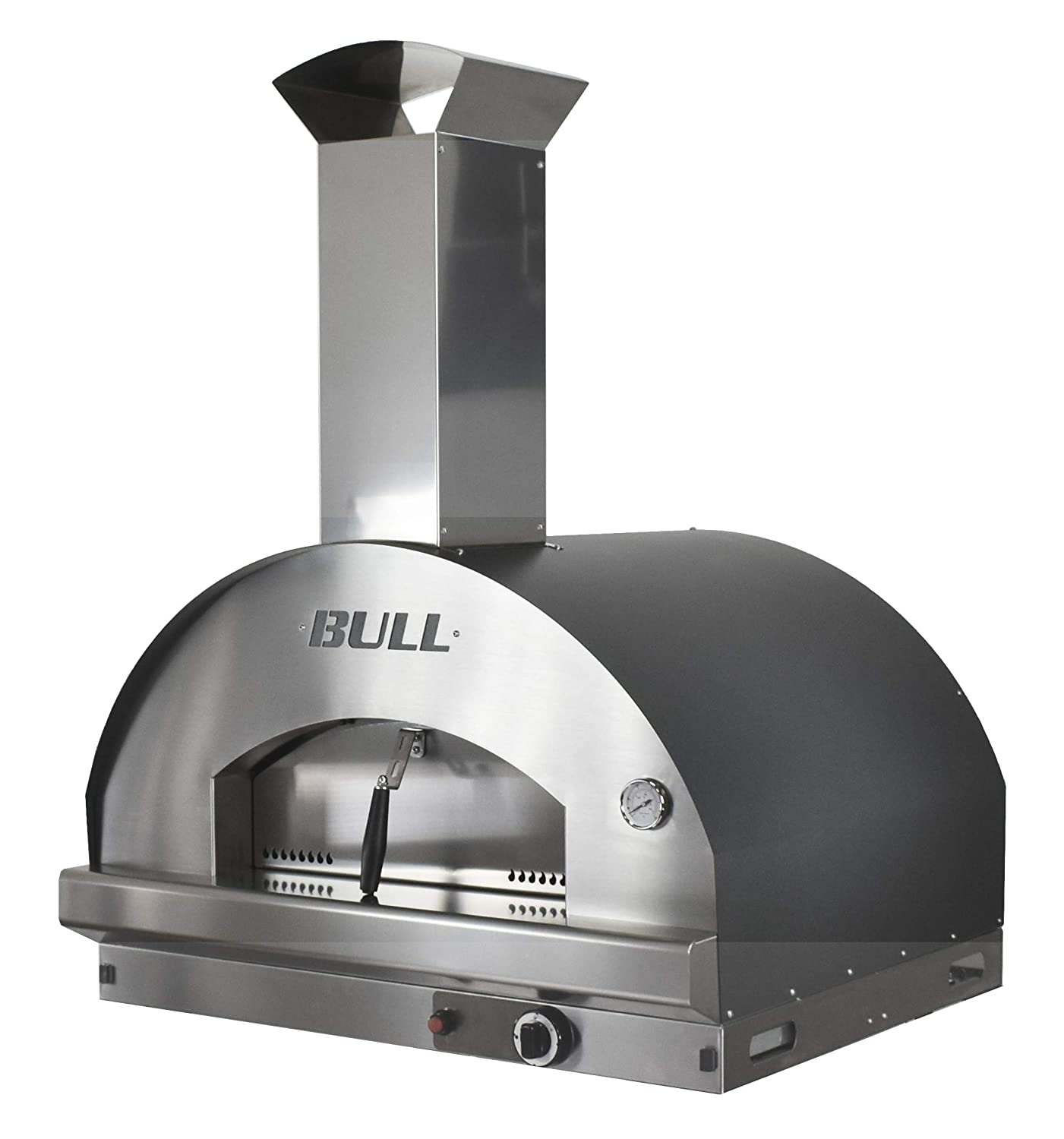 Bull Outdoor Products 77650 Gas Fired Italian Made Pizza Head-Liquid Propane Outdoor-Kitchen-ovens, Stainless Steel