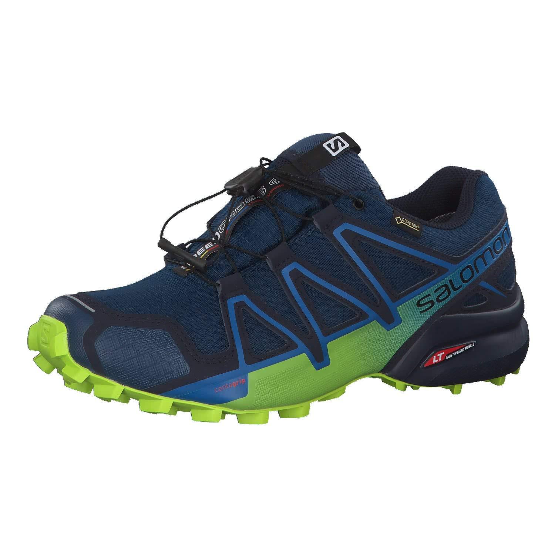 Salomon Men's Speedcross 4 GTX Running Trail Shoes Poseidon/Navy Blazer/Lime Green 11