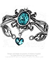 Alchemy Costume Accessories Gothic Bracelet Doge Venice Renaissance Lady of The Palace Ballroom Blue Bangle of Baroque Scrollwork