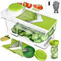 ONSON Adjustable Mandoline Slicer with Spiralizer Vegetable Slicer