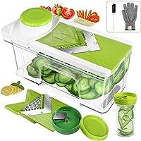 ONSON Adjustable Mandoline Slicer with Spiralizer Vegetable Slicer