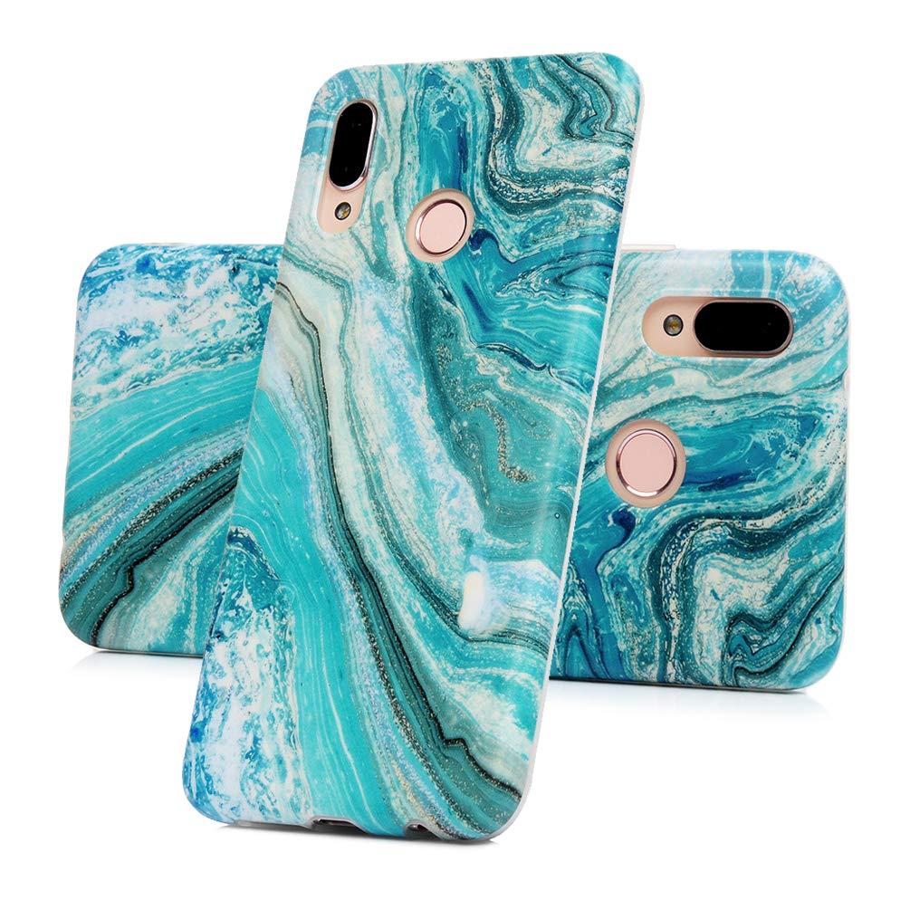 P30 Lite Marmor Handyh/ülle Handytasche Kompatible f/ür Huawei P30 Lite H/ülle Silikon Matt Marble Muster Case Cover Tasche D/ünn Weiche Schutzh/ülle Schlank Skin Softcase Schale Bumper Deckel-Sea1