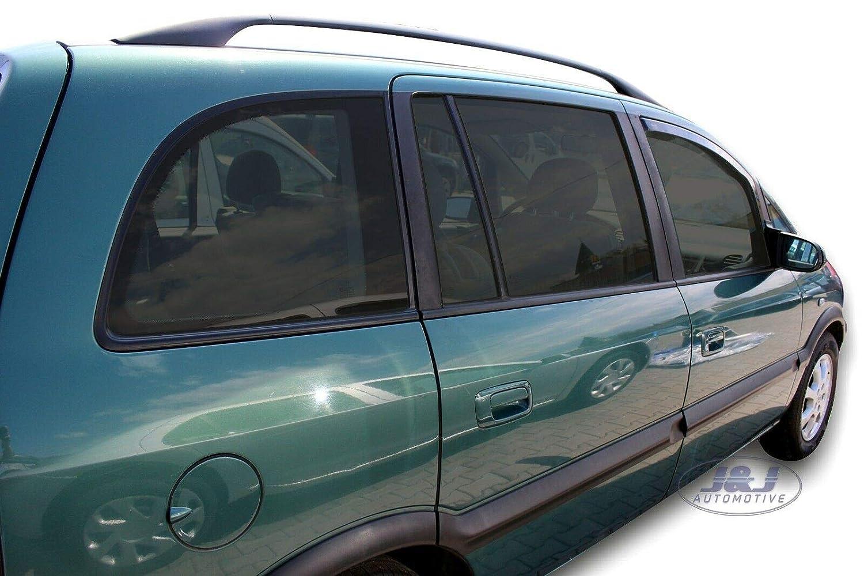 Deflecteurs dair d/éflecteurs de Vent Compatible avec Opel Zafira A 1999-2005 2 pi/èces J/&J AUTOMOTIVE