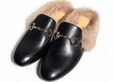 4fab5d86b8e69 LaRosa Women's Mules Horsebit Slippers Flat Slip-on Shoes