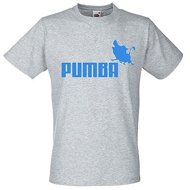 71f96ce6 Mens Grey Pumba Sports Brand Spoof T-Shirt Funny Lion King TShirt:  Amazon.co.uk: Clothing