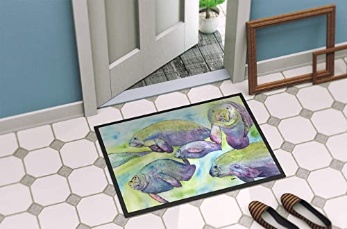 Caroline s Treasures 8544-MAT Manatee Indoor or Outdoor Mat 18×27 8544 Doormat, 18H X 27W, Multicolor