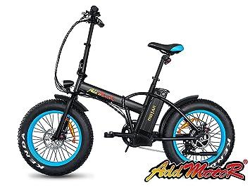 Addmotor MOTAN M-150 Bicicleta eléctrica 2017, 4 colores neumáticos gruesos, portátil, plegable para playa, nieve, todo terreno 500W, 48V.