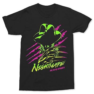 A Nightmare On Elm Street Freddy Neon T-Shirt | Amazon.com