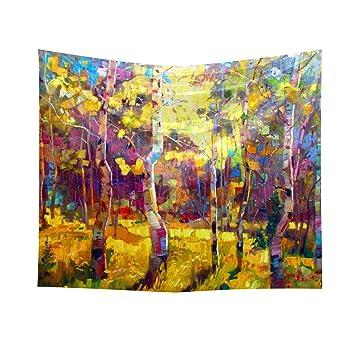 Abby Girls 70*50cm Varios tipos de plantas pintura al óleo tapiz de impresión de hoja caduca arte moderno decoración del hogar tapiz: Amazon.es: Jardín
