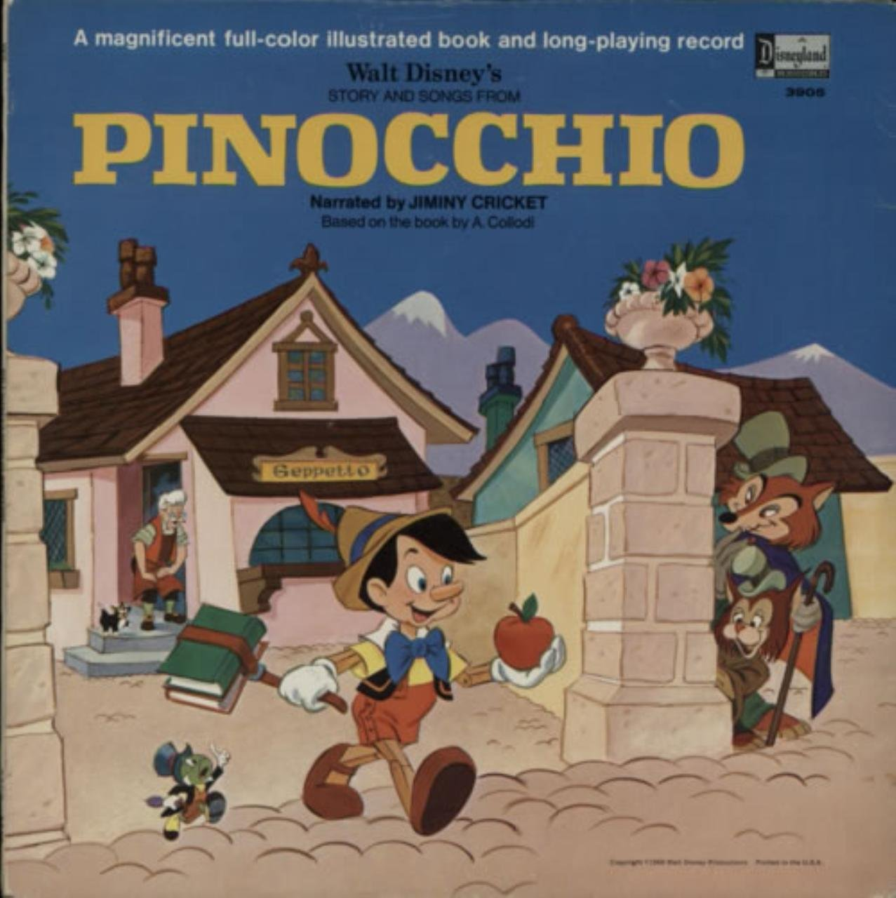 Story And Songs From Pinocchio by Disneyland 3905