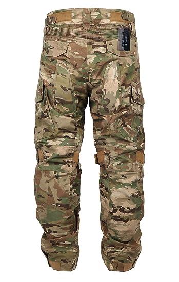 ZAPT - Pantalones tácticos de Combate con Protector de Rodilla para Airsoft, Paintball, Camuflaje Militar, Uniforme Militar, Camuflaje, 34, CP: Amazon.es: ...