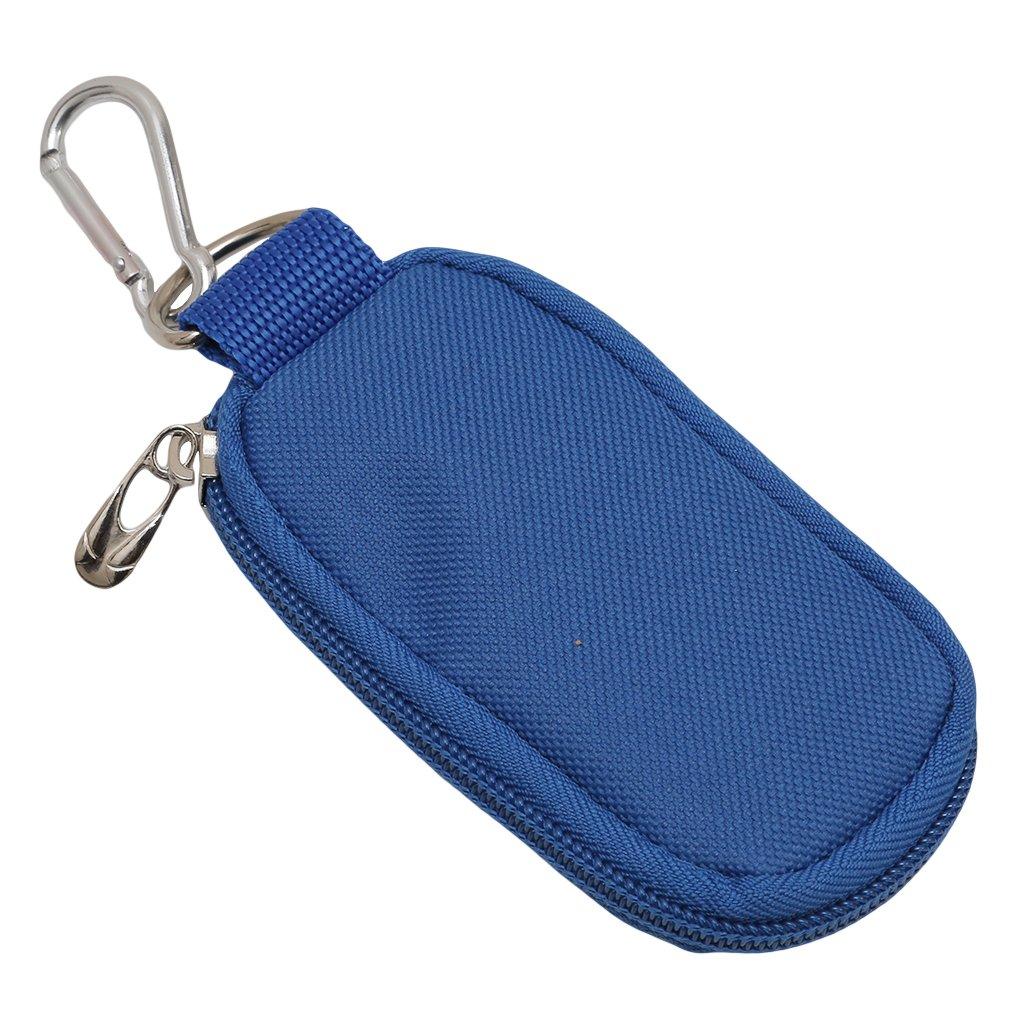 CanVivi Mini Ätherisches Öl Tasche Schlüsselanhänger mit 10 Löcher Aufbewahrung Beutel Organizer, Blau