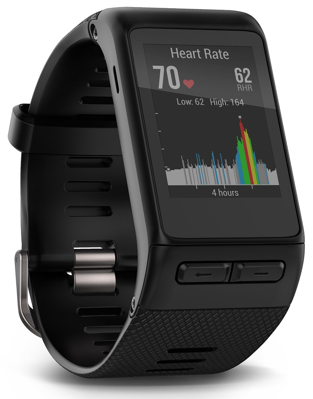 Garmin Vívoactive HR GPS Smart Watch, Regular fit - Black (Certified Refurbished) by Garmin