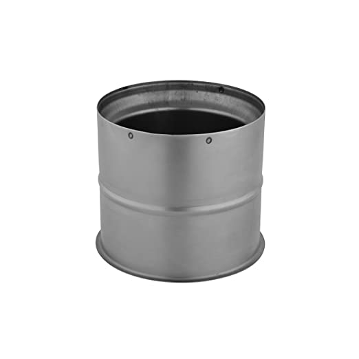 Kamino - Flam - Tubo para chimenea, Doble pared forro para estufa de leña, Tubo doble pared - acero resistente a altas temperaturas - Plata, Ø 110 mm: ...