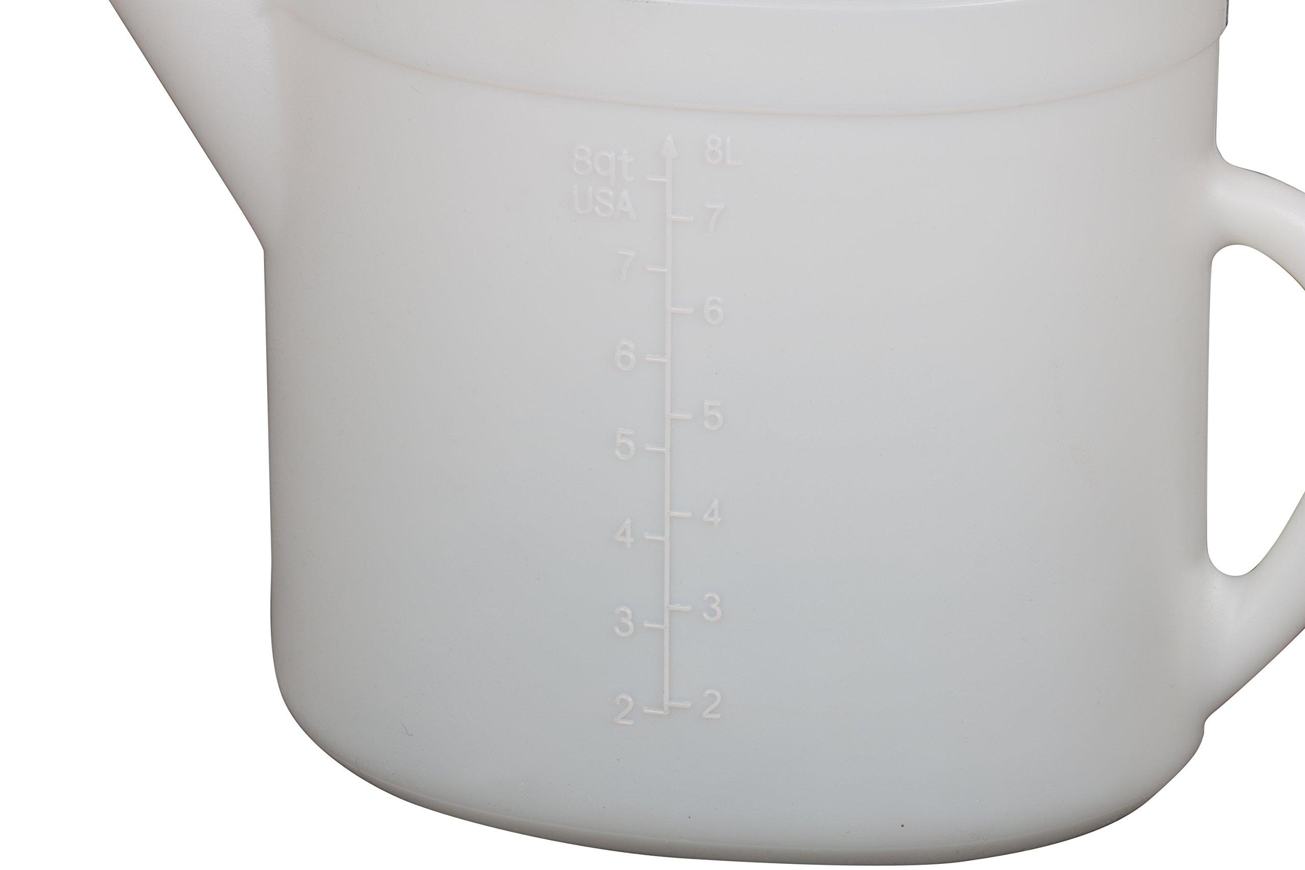 WirthCo 32377 Funnel King High Density Polyethylene Pitcher - 10 Liter Capacity