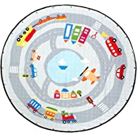 Blesiya Kids Game Toy Play Mat Crawling Floor Mat Rugs, Cute Baby Carpet Blanket, 60inches, Round, Foldable Reversible…