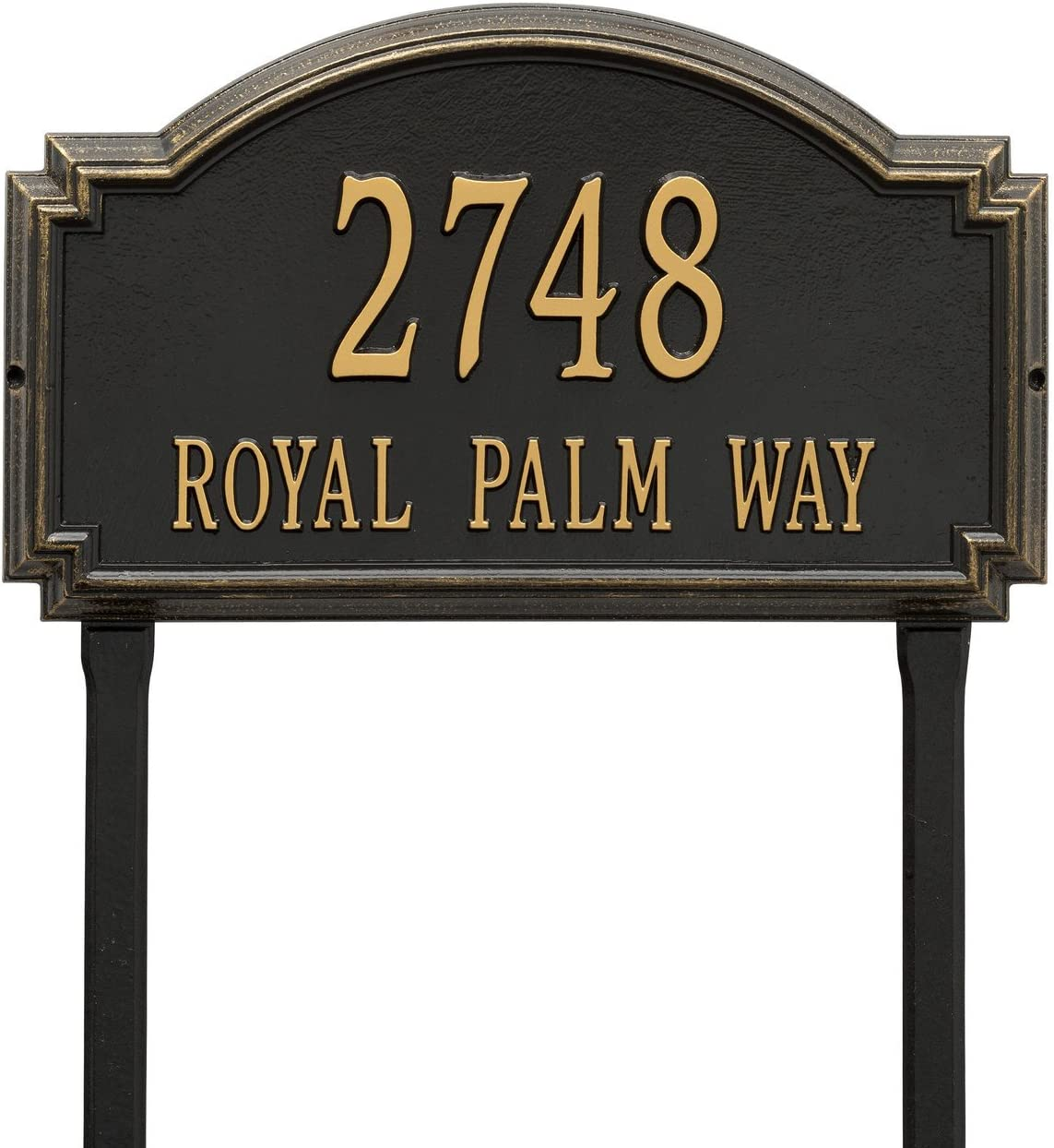 Customized Williamsburg Lawn Address Plaque 2 Lines 21 W X 12 H House Numbers Amazon Canada