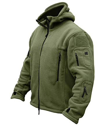 09c53258ba7 CRYSULLY Men Spring Long Sleeve Hunting Military Trekking Hiking Jackets  Outwear Adventure Coat Army Green