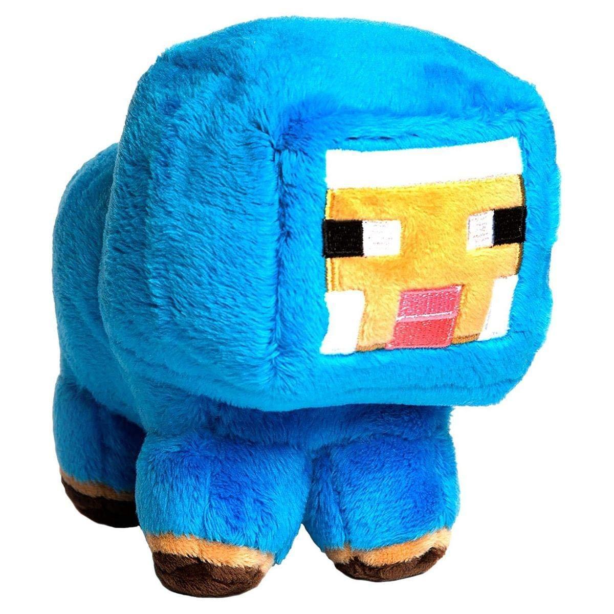 Minecraft 7184 Mouton en Peluche, Bleu, 17,8 cm 8cm Jinx