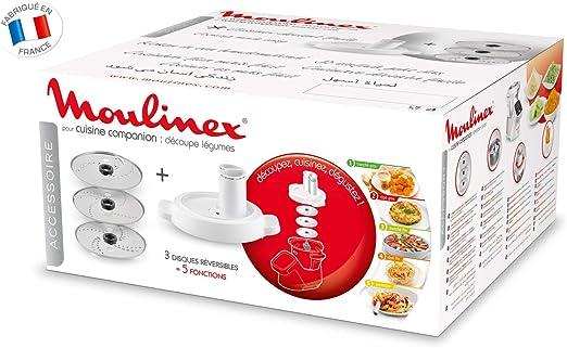 Moulinex Accesorios XF383110 - Accesorio cortador de 3 discos, eje ...