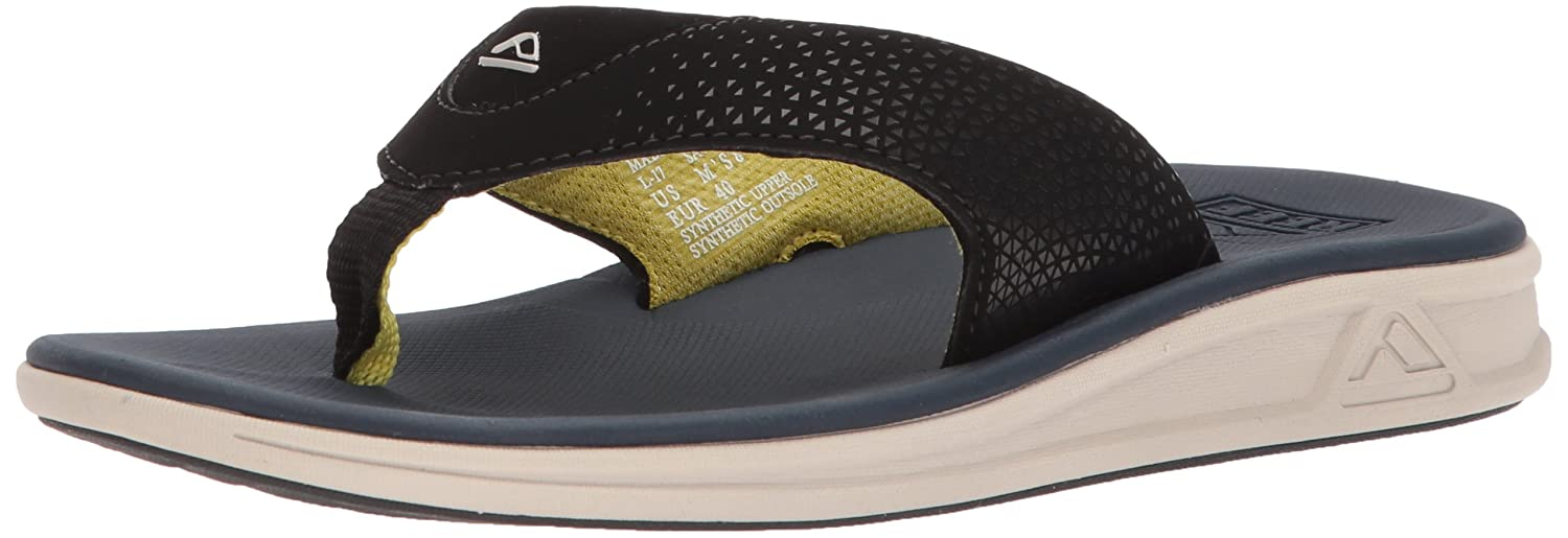 Reef Mens Sandals Rover | Athletic Sports Flip Flops for Men with Soft Cushion Footbed | Waterproof B071JWJY77 13 D(M) US|Navy/Yellow