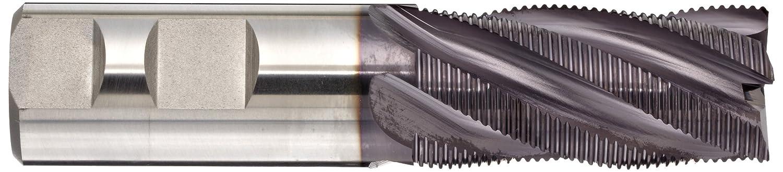 Non-Center Cutting 1 Cutting Diameter 1 Shank Diameter TIALN Multilayer Finish Roughing Cut 5 Flutes 4.5 Overall Length Square Nose End Mill 30 Deg Helix Weldon Shank HSS YG-1 E9990TF High Speed Steel
