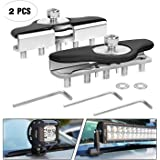 Led Light Bar Mounting Brackets,Nilight 2pcs Universal Hood Led Work Light Bar Mount Bracket Clamp Holder for Jeep Truck…