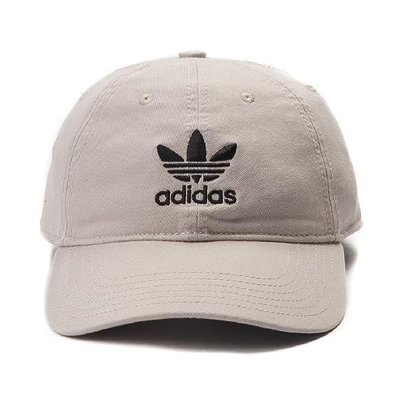25c44f156b4 adidas Originals Relaxed Strapback Baseball Hat Trefoil Logo Youth Fit One  Size  Amazon.co.uk  Clothing