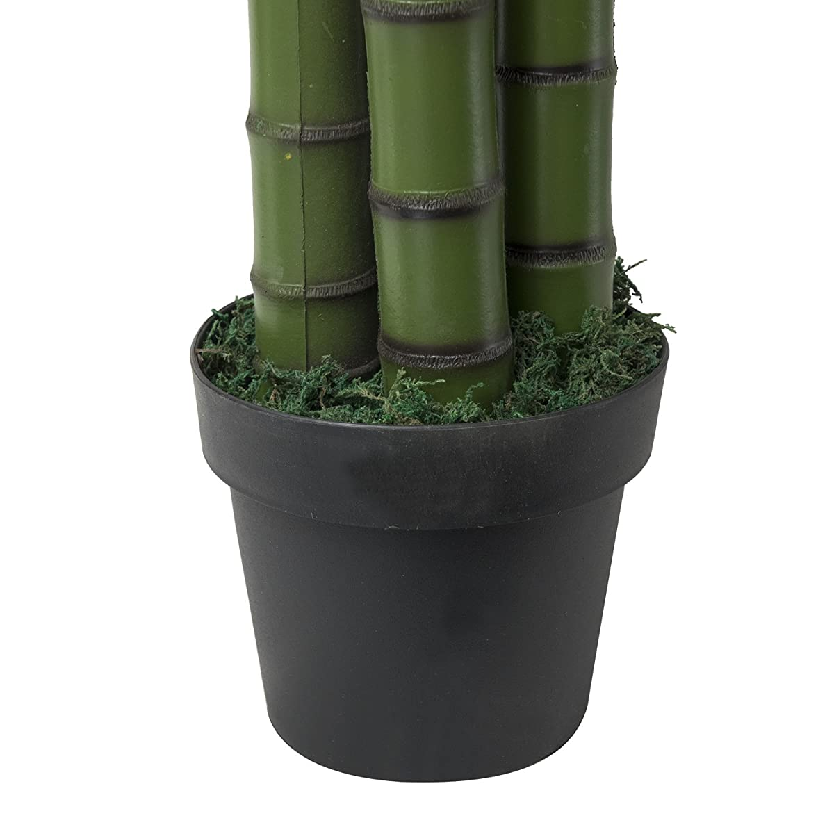 RUOPEI 6.5 FtArtificial Palm Tree - Artificial Tree Plant in Plastic Pot, Potted Fake Greenery Decoration with Bendable Branches for Home, Restaurant, Cafe or Office Decorating (Green)