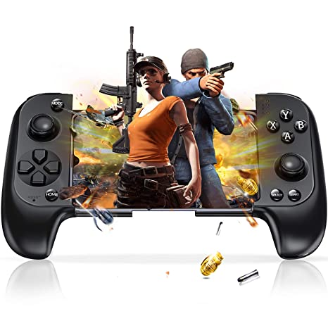 ESYWEN Mobile Controller for PUBG, Telescopic Mobile Android & iPhone Game  Controller Trigger Gamepad