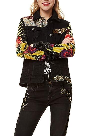 Veste Claudia Desigual Coton Noir Femme Vestes 96423391