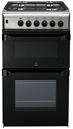 indesit it50d1xxs 50cm twin cavity dual fuel cooker - stainless ... - Cucina A Gas Indesit