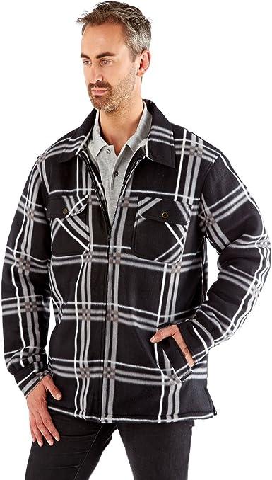 Chaqueta Hombre ProClimate Camisa De Leñador Nuevo Forro Sherpa Cuadros Polar Camisa: Amazon.es: Ropa y accesorios