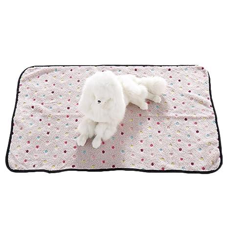 Manta de franela suave para mascotas, perros, gatos, cálida, para cama de