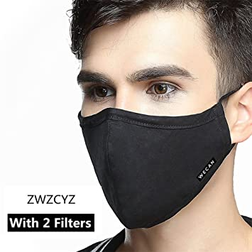 ZWZCYZ Respirator Masks Allergy flu Masks Breating Can Be Washed Reusable  Cotton Masks Protective
