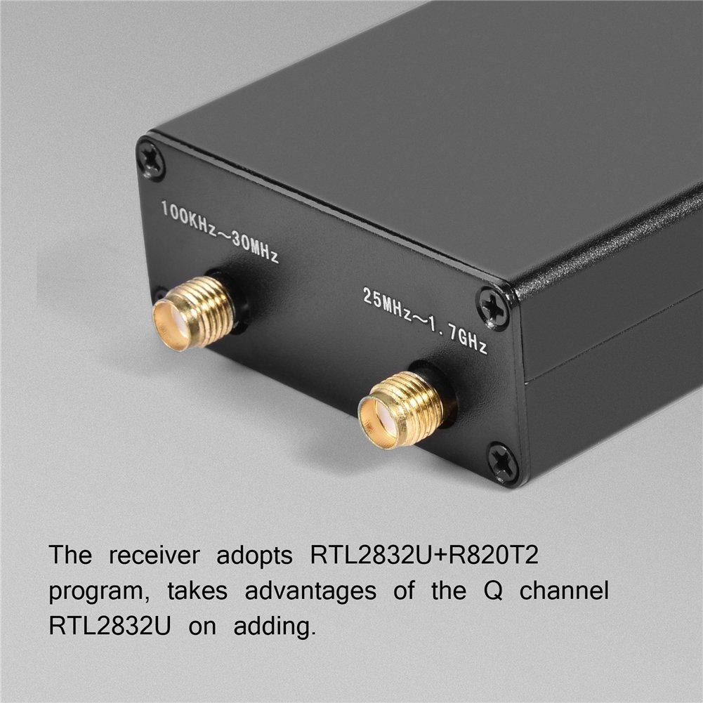Amazon com: fosa 100KHZ ~ 1 7GHZ RTL-SDR Full Band Radio USB Tuner