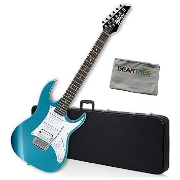 Amazon Com Ibanez Grx40zmlb Gio Rx Electric Guitar Metallic Light