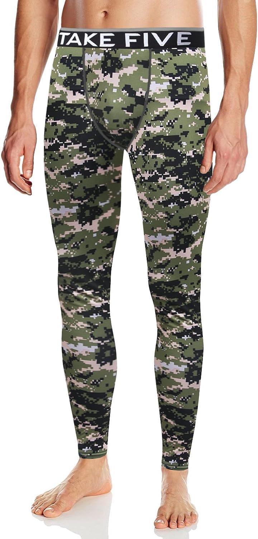 Take Five Mens Skin Tight Compression Base Layer Running Pants Leggings NP534