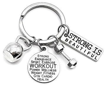Llavero de entrenamiento, fitness, llavero de entrenamiento ...