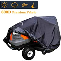 Himal Pro Lawn Mower Cover - Heavy Duty 600D Polyester Oxford, Waterproof, UV Resistant, Universal Size Tractor Cover Fits Decks up to 54۪۪ with Storage Bag, Black