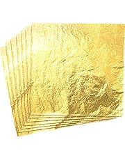 CZ Store-Foglia d'oro 14X14 CM ✮✮Garanzia A Vita✮✮-Foglie d'oro Pacchetto di 100 Foglia imitazione Oro decorazione/Artigianato/Bricolage/doratura-Foglia d'Oro Slime interattivo Bambini Adulti